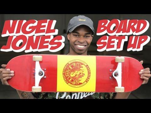 NIGEL JONES BOARD SET UP & INTERVIEW !!!