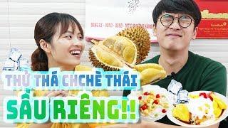 Soonse thử thách món chè thái sầu riêng quán ăn ngon Hà Nội Việt Nam!! 두리안 도전!!!  [#HàNội tập8]