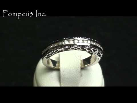 .50CT Vintage Heirloom Diamond Wedding Ring 14K White Gold
