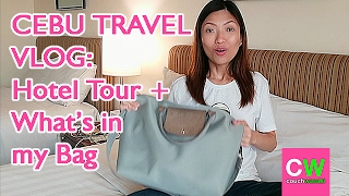 TRAVEL VLOG: Cebu Hotel Tour + What's in my Bag  | couchwasabi