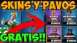 SKINS Y PAVOS GRATIS!!! FREE SKINS/FORTNITE BATTLE ROYALE