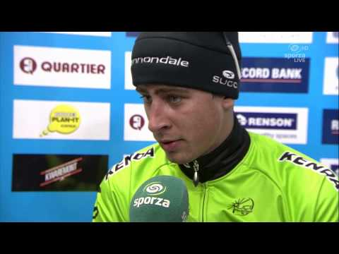 E3 Harelbeke 2014 - Peter Sagan - interview after the race (Italian)
