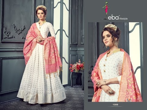 Cotton Anarkali suit design ideas/beautiful long kurta with dupatta for summers