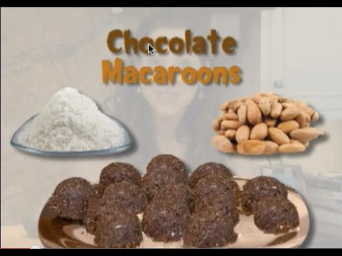 Chocolate Macaroons: Raw food recipe