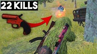 KILLING LAST GUY WITH FLARE GUN?! | 22 KILLS SOLO | PUBG Mobile 🐼