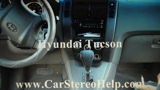 Hyundai Tucson Stereo Removal
