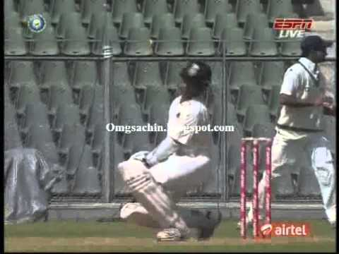 Tendulkar's Reply To Sreesanth Bouncer - Irani Cup 2013