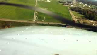 Landing in Akron Canton: Cessna 172P N97945 with ATC Included