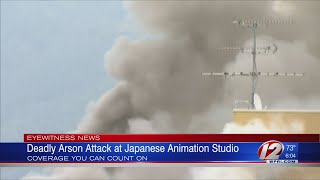 Suspected arson in Japan anime studio leaves up to 23 dead