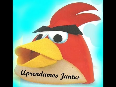 gorro de los Angry Birds en fomy - YouTube
