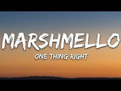 Download Lagu  Marshmello & Kane Brown - One Thing Right s Mp3 Free