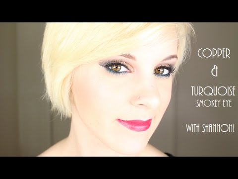 Copper and Turquoise Smokey Eye w/Shannon