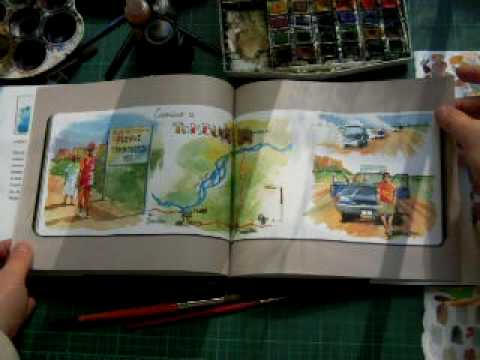 Mali Travel Journal with watercolor