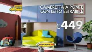Mercatone Uno - Cameretta a ponte con letto estraibile 00:16