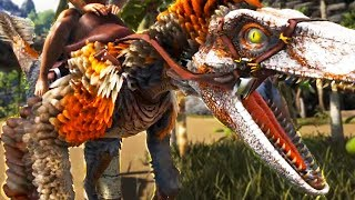 MOST REALISTIC ARK RAPTOR YET! FEATHERS & LATCHING & More! - Ark Survival Evolved Modded