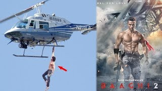 Tiger Shroff's Action Stunt on Helicopter At Baaghi 2 Trailer Launch