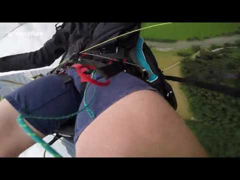 Man experiences terrifying paragliding accide