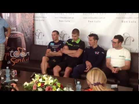 Vincenzo Nibali press conference, Tour de San Luis 2013