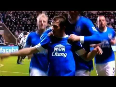 Leighton Baines Free-Kick v Newcastle
