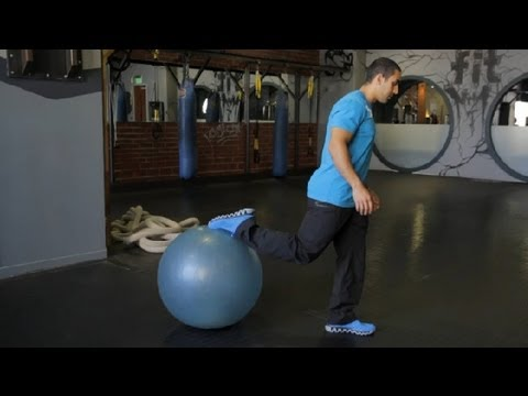 Exercise Ball Exercises to Trim Legs : Muscle Toning & Strengthening
