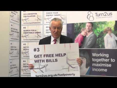 Rt Hon Peter Hain, MP supports Turn2us Fuel Poverty campaign