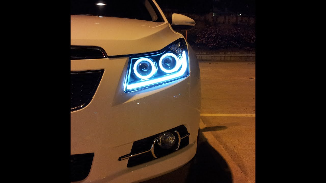 Chevrolet Cruze Double Angel Eyes Far Youtube