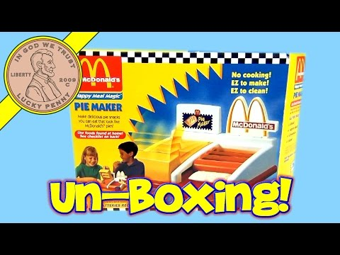 McDonald's Happy Meal Magic Toys - 1993 Apple Pie Maker Set (Unboxing)