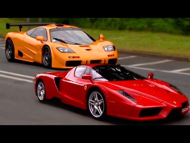 Ferrari Enzo vs McLaren F1 - Fifth Gear - YouTube