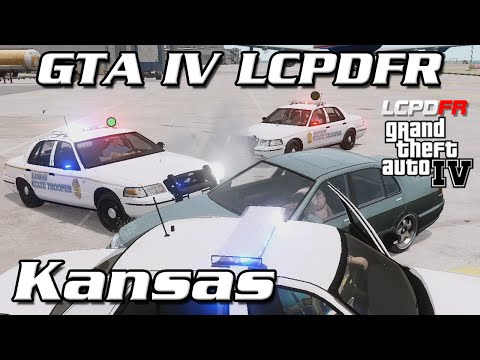 GTA IV LCPDFR MP - Kansas Highway Patrol - He Just Dropped a Grenade