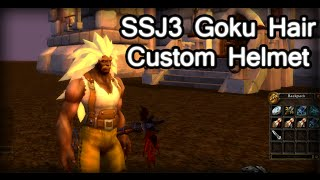 Wow 3.3.5a - SSJ3 Goku Hair  - Custom Helmet Model