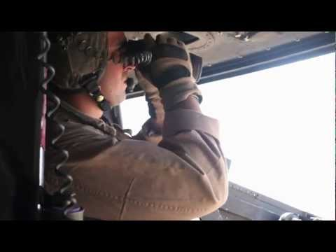 Marine Helicopter Gunner Engages Targets in Souther Helmand, Afghanistan - Close Air Support