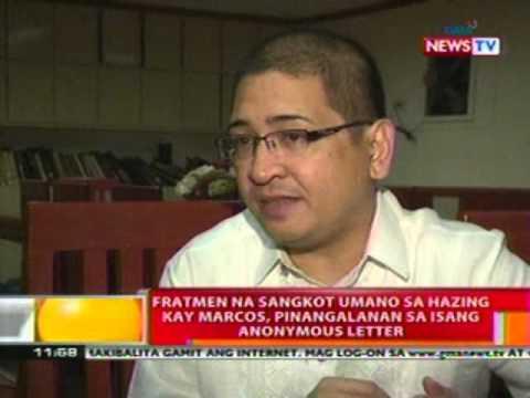 Bt: Fratmen Na Sangkot Sa Hazing Kay Marcos, Pinangalanan Sa Isang Anonymous Letter video