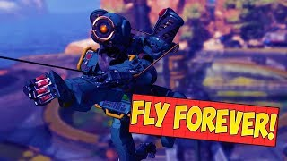 FLYING ACROSS THE MAP IN APEX LEGENDS - Apex Legends Funny And WTF Moments! #1