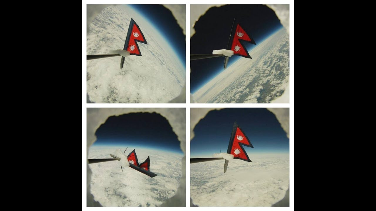 Nepal Flag in Space Krinjal Space:nepal's Flag And