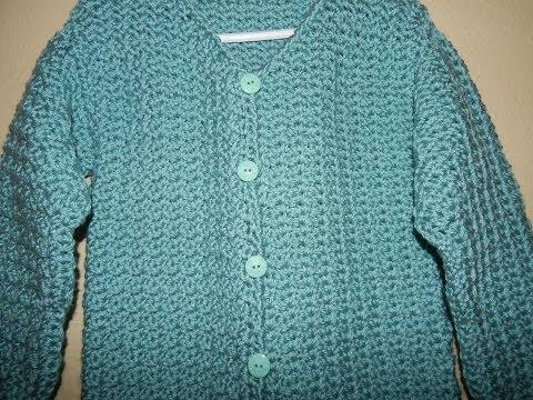 Sueter con Botones para Niña Crochet parte 1 - YouTube