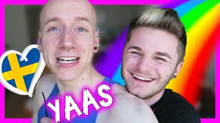Gay YouTuber Eurovision 2016 Drunk Party | RolyVlogs