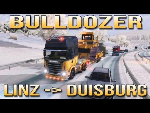 BULLDOZER - Linz to Duisburg - Euro Truck Simulator 2 - ETS2 inc Track IR