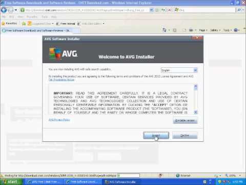 AVG Free 2012 Antivirus Tutorial - How To Install A Free Antivirus