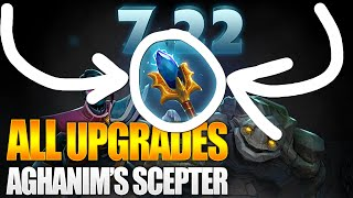 Dota 2 All Aghanim's Scepter Upgrades and Reworks - Patch 7.22