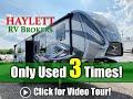 (SOLD) Used 3 Times! 2018 Fuzion 414 Luxury Toy Hauler Keystone Fifth Wheel RV