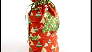 Drawstring Christmas sacks for you to sew by Debbie Shore