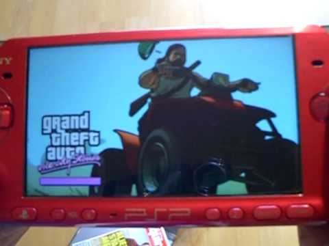 GTA vcs PSP unboxing + gameplay