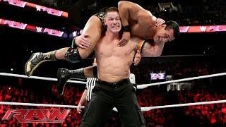 John Cena vs Alberto Del Rio United States Championship Match Raw December 28 2015