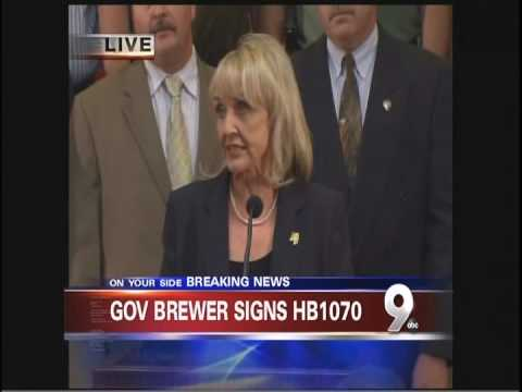 Press Conference Signing of SB 1070 by Arizona Governor Jan Brewer Part 1 of 2