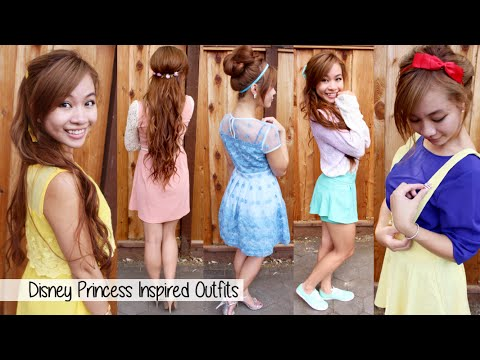 Disney Princesses Outfits Ideas l Cartoon Character Outfits Fashion Lookbook
