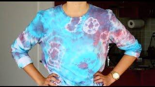 как сделать футболку тай дай (tie-dye)