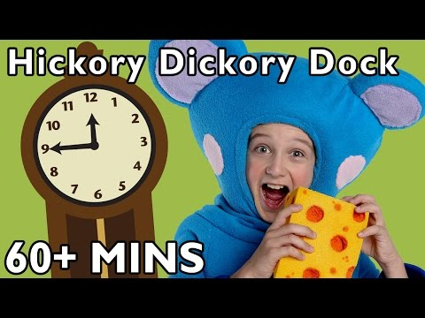 Hickory Dickory Dock And More | Nursery Rhymes From Mother Goose Club video