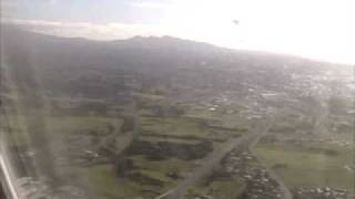 Taking off from New Plymouth, New Zealand
