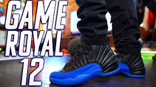 "WATCH BEFORE YOU BUY !!! AIR JORDAN 12 ""GAME ROYAL"" REVIEW AND ON FOOT !!!"
