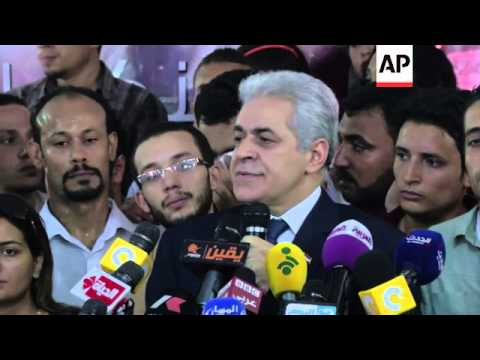 Presidential candidate Hamdeen Sabahi accepts defeat in election